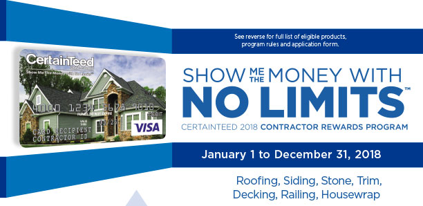 No Limits Promotion from Certainteed