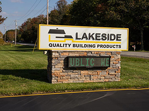 lakeside roofing and siding showroom