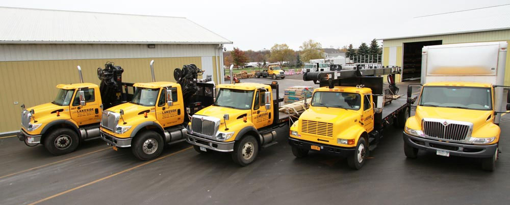 Lakeside Roofing & Siding Truck Fleet